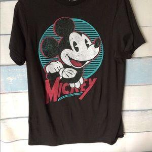 Men's Retro Mickey Designed black tee